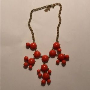 Jewelry - Orange Statement Costume Necklace